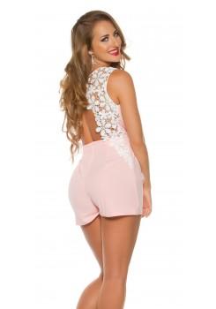 306113a0c253 Overal s krajkou Pink