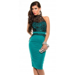 49fe7dea2d06 Spoločenské šaty midi KouCla Mint - Štýlové šaty