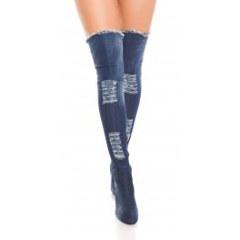 41ebecb7a5 Riflové čižmy nad kolená JeansBlue - Štýlové šaty