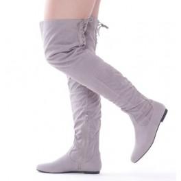 7275a474feff Semišové čižmy nad kolená Grey - Štýlové šaty