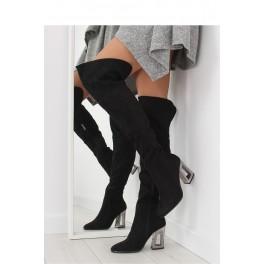f278fdfcf2b0 Čižmy nad kolená na podpätku - Štýlové šaty