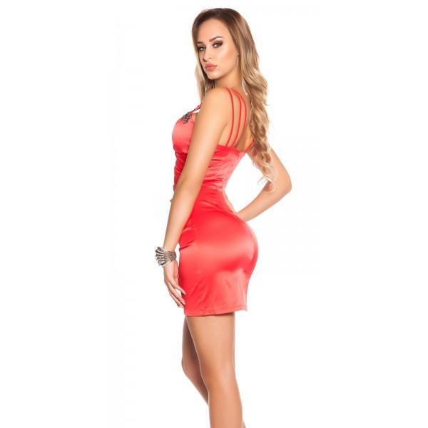 Koktailové šaty Satin-look Red Zväčšiť. Predchádzajúce. Ďalšie 5751fa19410