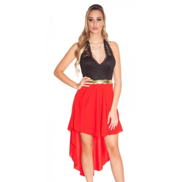 3d1578f05241 Spoločenské šaty s čipkou KouCla Red Zväčšiť. Predchádzajúce. Ďalšie