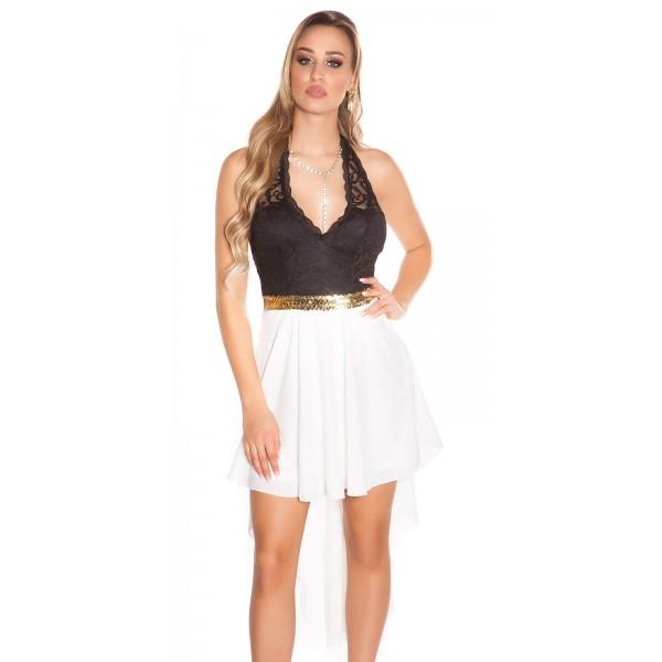 09cbb9acaa57 Spoločenské šaty s čipkou KouCla White Zväčšiť. Predchádzajúce. Ďalšie