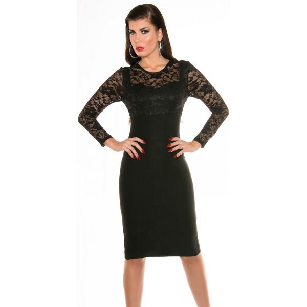 4ec9e73cb221 Spoločenské šaty s čipkou Black - Štýlové šaty